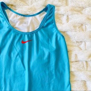 NWOT Nike Pro Tank Top Mesh Back Blue Red